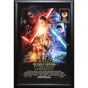"""Star Wars: Force Awakens"" Cast signed poster"