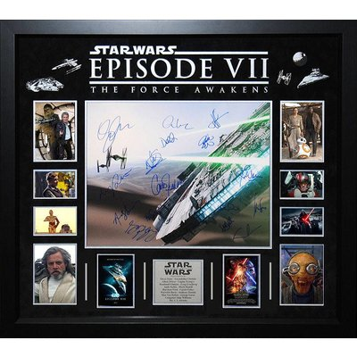 """""""Star Wars: Force Awakens"""" Cast signed 16x20 collage"""