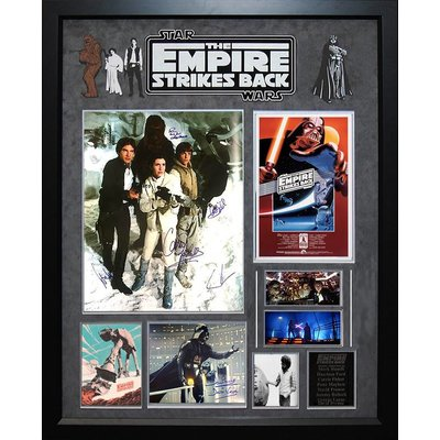 """""""Star Wars: Empire Strikes Back"""" Cast signed 16x20 collage"""