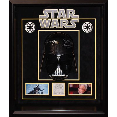 """Star Wars"" Signed Replica Darth Vader Helmet by Prose and Jones."