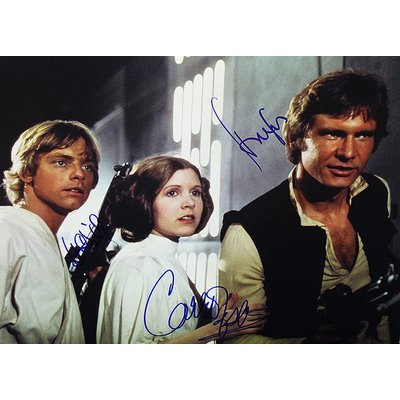 """""""Star Wars"""" Ford/Fisher/Hamill Signed 11x14 Collage"""