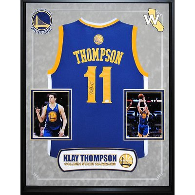 """""""Golden State Warriors"""" 2017 NBA Champ Klay Thompson signed Jersey"""