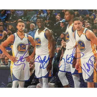 """Golden State Warriors""  ""The Big 4"" Signed 8x10 Photo"