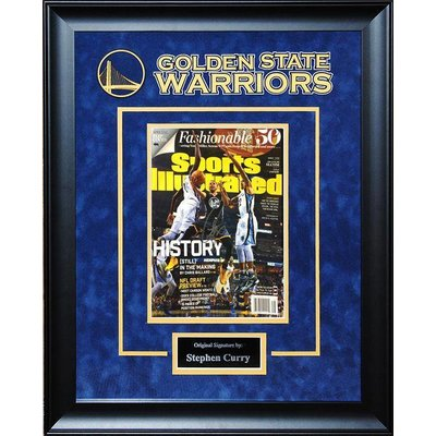 """Golden State Warriors"" Steph Curry signed Sports Illustrated"