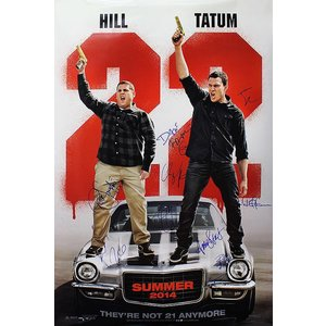 """""""22 Jump Street"""" Signed Movie Poster"""