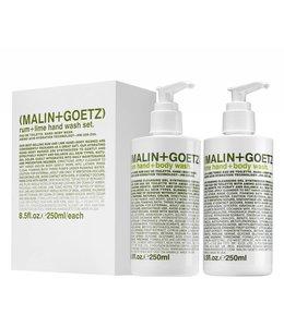 (MALIN+GOETZ) Ensemble de gels nettoyants pour les mains - Lime/Rhum 8.5oz / 250ml