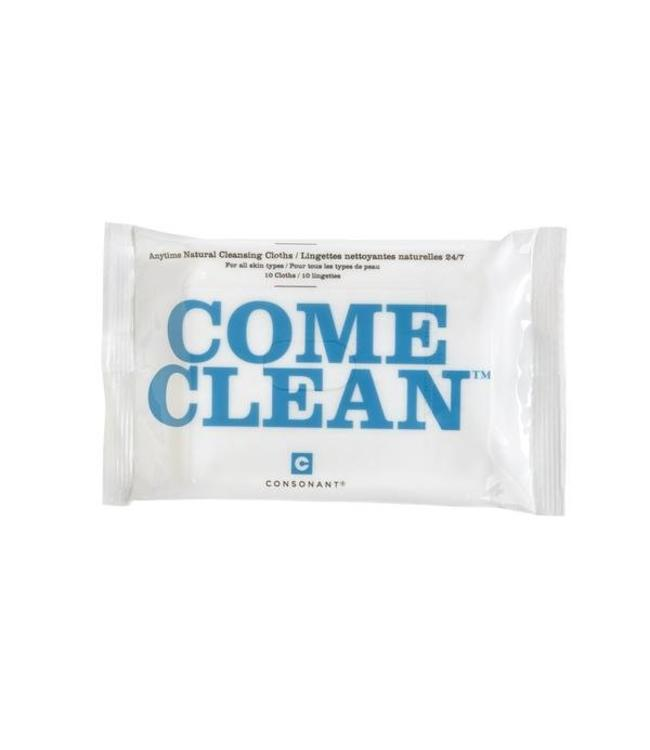 Consonant Come Clean Cleansing Cloths - pack of 10