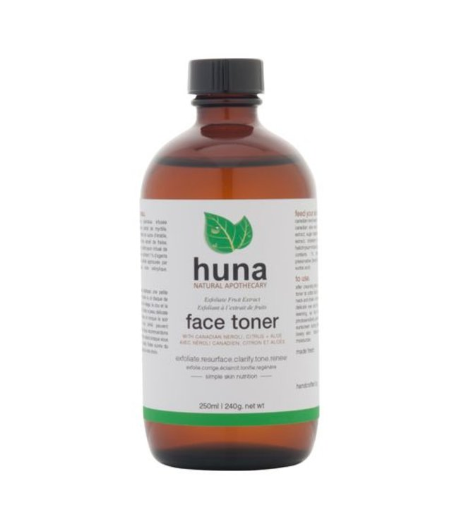 Huna Natural Apothecary  Exfoliant tonique à l'extrait de fruits AHA 250ml