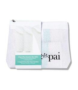 Pai Skincare Dual Effect Sensitive Face Cloth - pack of 3