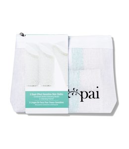 Pai Skincare Pai Skincare: Dual Effect Sensitive Face Cloth - pack of 3
