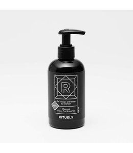 Rituels Charcoal Pre-shave and Shave Gel for Sensitive Skin  236 ml (8 oz.)