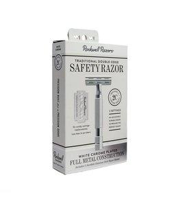Rockwell Razors 2C Adjustable Safety Razor White Chrome