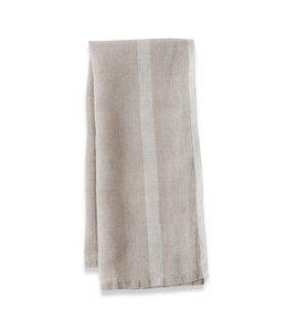 Caravan Laundered Linen Tea Towels set of 2  -NATURAL/WHITE