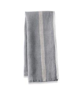 Caravan Laundered Linen Tea Towels set of 2  -GREY/NATURAL
