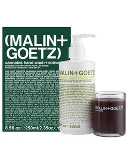 (MALIN+GOETZ) Ensemble de nettoyant pour les mains + bougie au cannabis