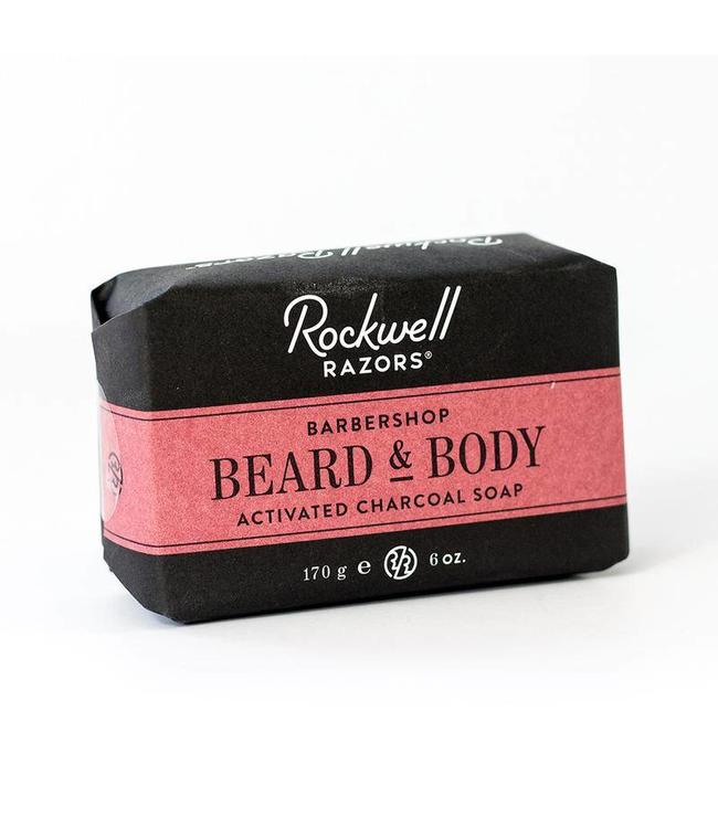 Rockwell Razors Beard & Body Activated Charcoal Soap - Barbershop Scent