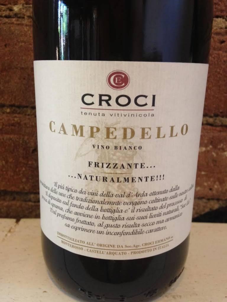 """2014 Ermano Croci """"Campedello"""" Vino Bianco Frizzante,750ml"""