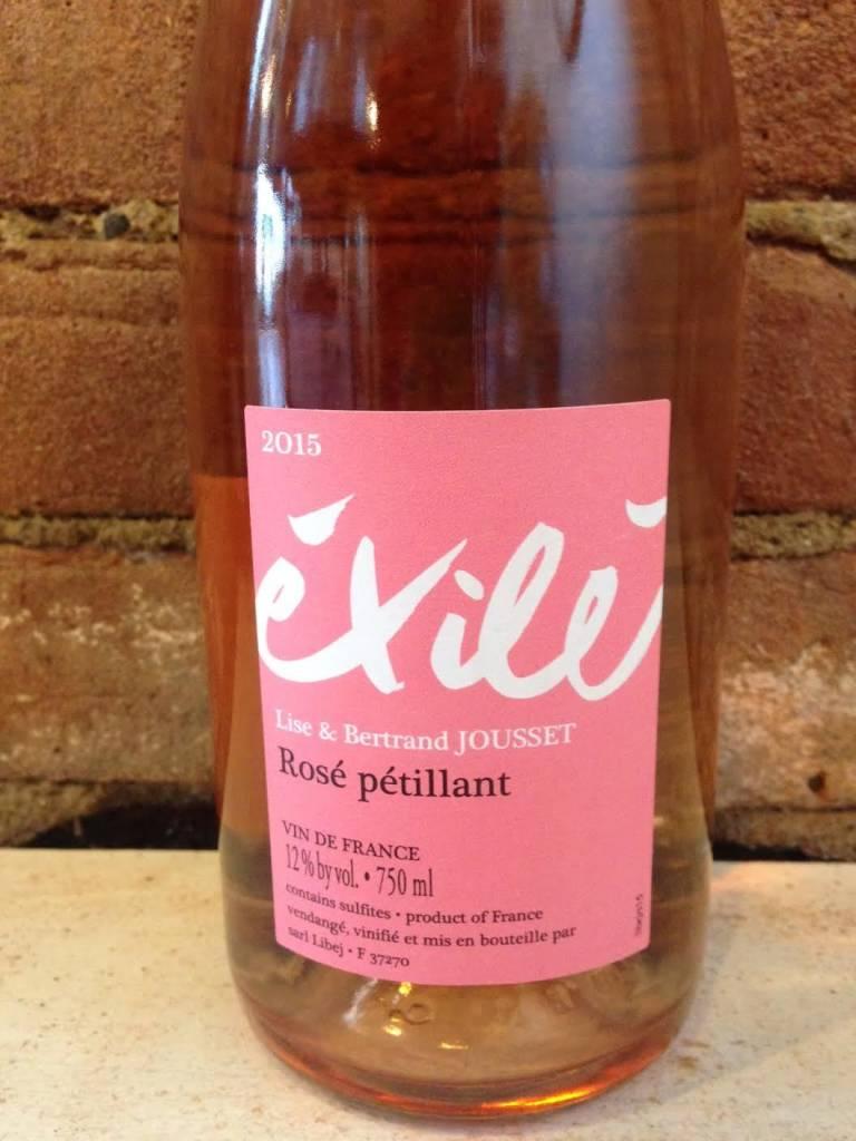 2015 Lise and Bertrand Jousset VdF Exile Pet-Nat Rose, 750ml