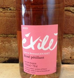 2016 Lise and Bertrand Jousset VdF Exile Pet-Nat Rose, 750ml