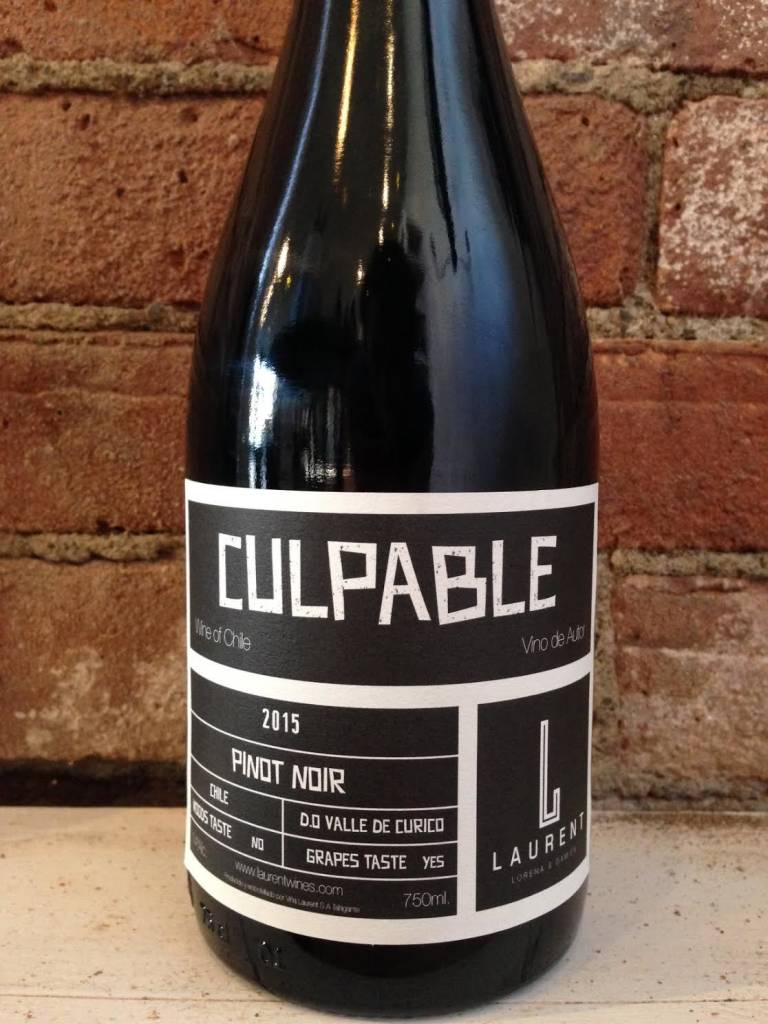 """2015 Laurent Family """"Culpable"""" Valle Curico, 750ml"""