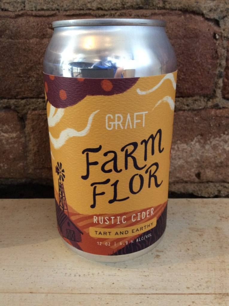 "Graft ""Farm Flor"" Cider, 12 oz CAN"