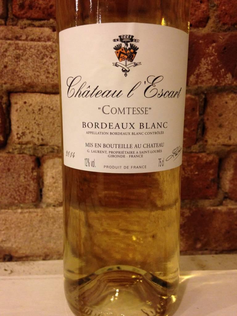 2016 Chateau L'escart Bordeaux Blanc, 750ml