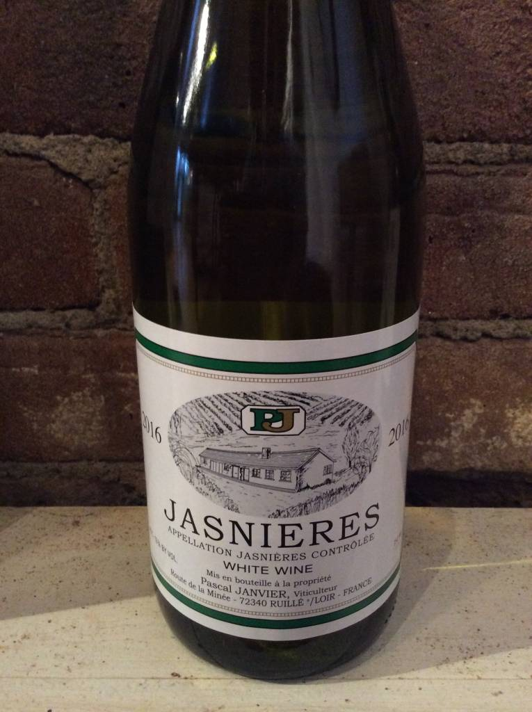2016 Pascal Janvier Jasnieres Chenin Blanc, 750ml