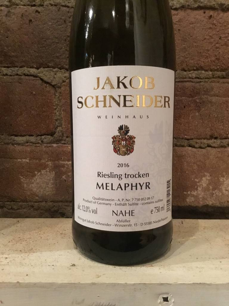 "2016 Jakob Schneider ""Melaphyr"" Riesling Trocken, 750ml"