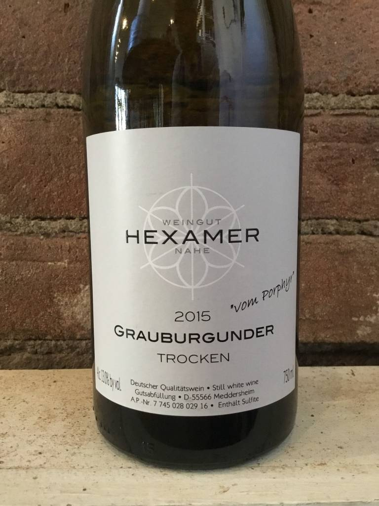 "2015 Hexamer Grauburgunder ""vom Porphyr"" Trocken, 750ml"