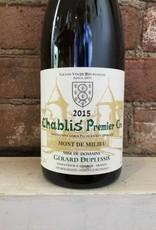 """2015 Gerard Duplessis """"Mont de Milieu"""" Chablis Premier Cru, 750ml"""