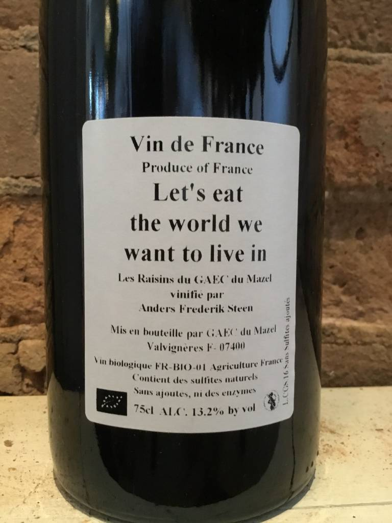 "2016 Anders Frederik Steen ""Eat the World"" VDF Red, 750ml"