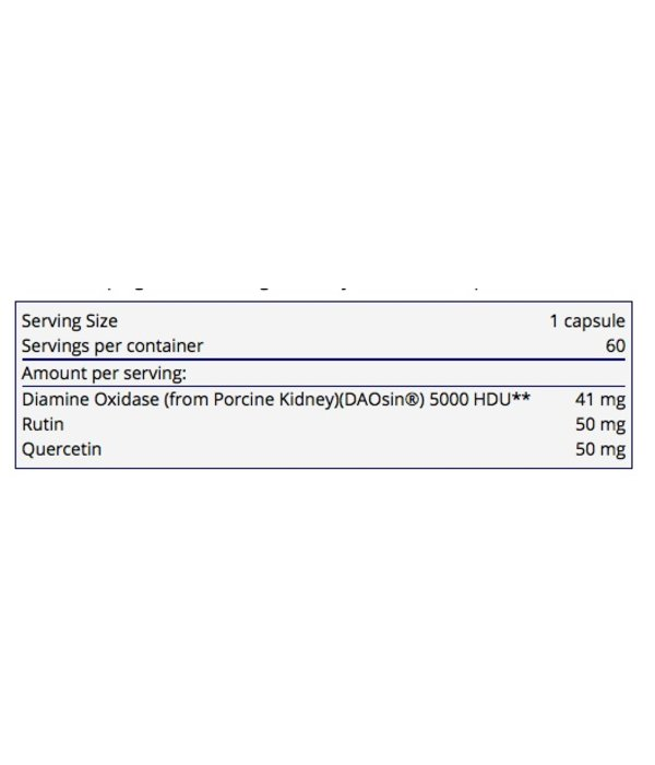 Allergy Research Group DAO Histaminase- 60 caps