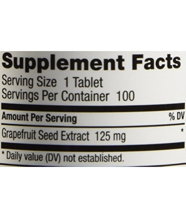 NutriBiotic Grapefruit Seed Extract- 100 tabs