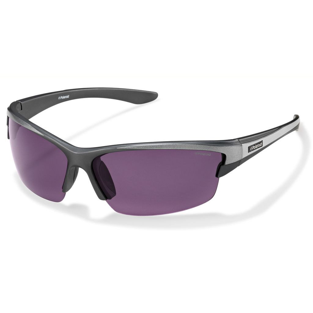 Polaroid POLAROID 7413C SILVER POLARIZED PURPLE
