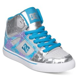DC Shoes DC SPARTAN HIGH SE G SHOE LT GREY/PURPLE 12.5M