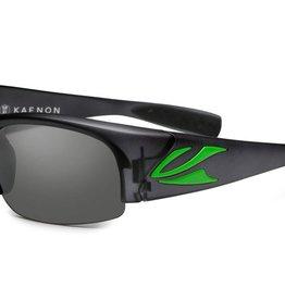 Kaenon Hard Kore Graphite/Green Logo Grey 12-Polarized