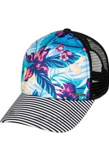 Roxy ROXY GOLDEN AGE TRUCKER HAT NORFOLK DIAMOND TROPICAL BLUE
