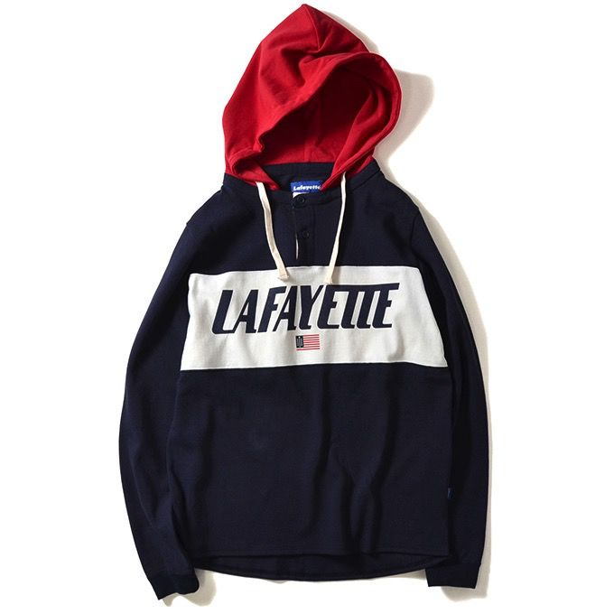 Lafayette Hooded Rugby Navy