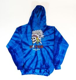 WARRIORS N DIE BLUE HOODY
