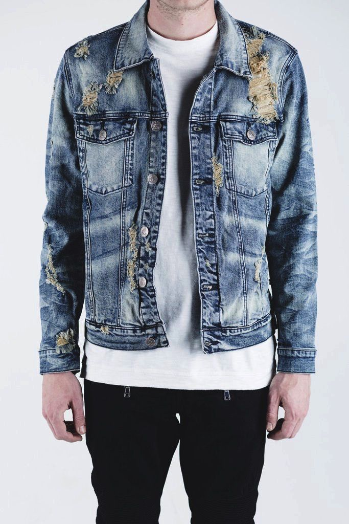 Embellish Phantom Denimn Jacket PhantomDenim Jacket, Indigo, 2XL