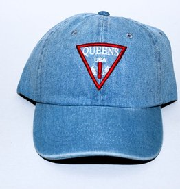 QUEENS ! dad cap ( denim )