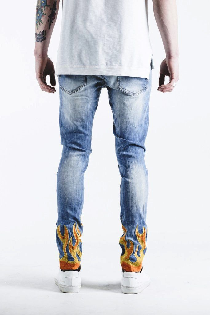 Embellish LA FLAME DENIM (BLUE)