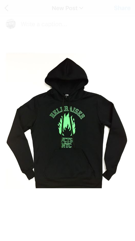 Hell Raiser Pull Over Hoody