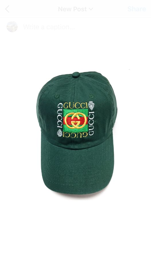 Vintage 1980s Bootleg Gucci (F.G) Cap