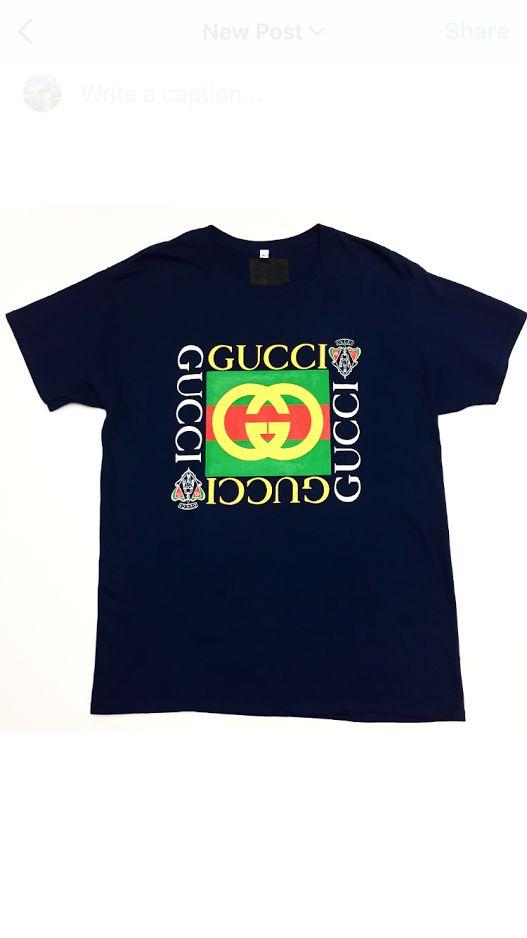 Vintage 1980s Bootleg Gucci (N) T Shirt