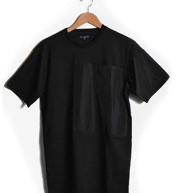 Nylon Block T Shirt Black