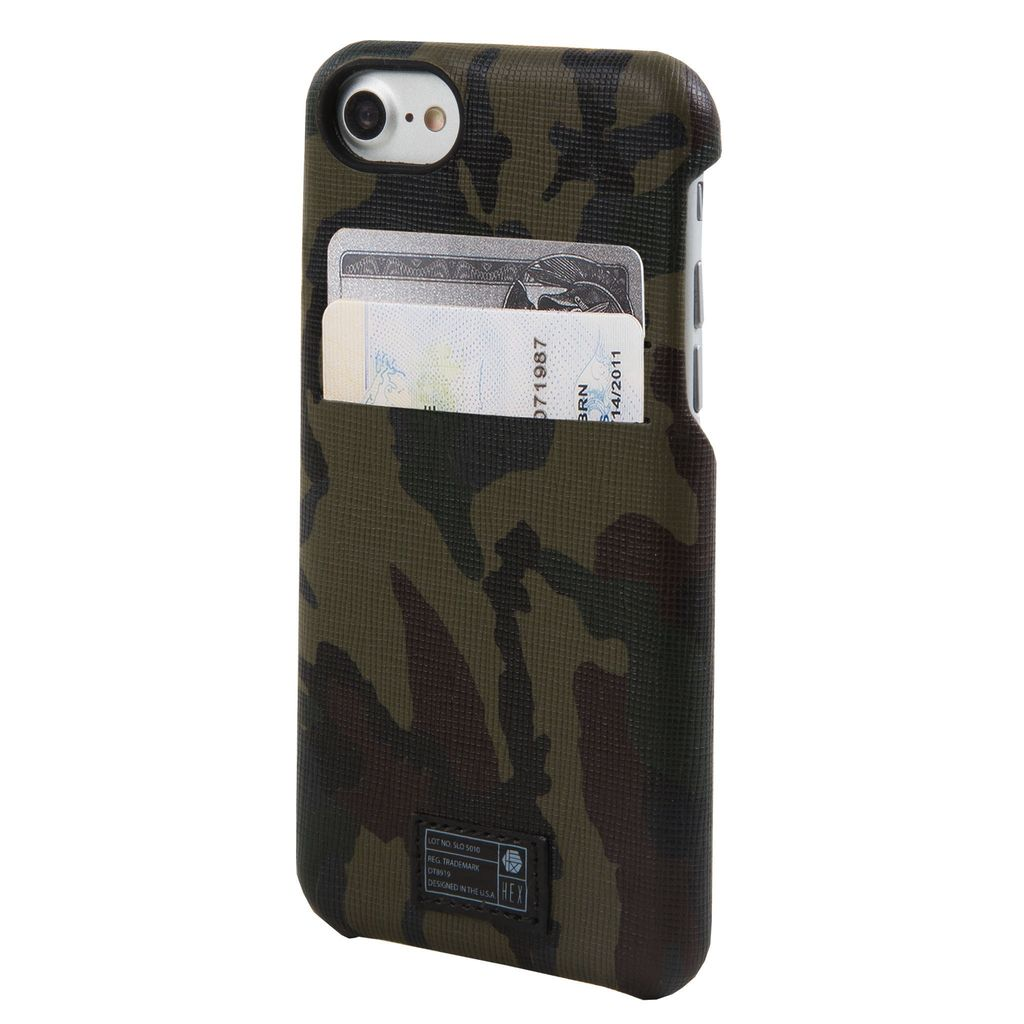 CAMO LEATHER REFLECTIVE SOLO WALLET FOR IPHONE 7