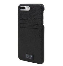 BLACK LEATHER SOLO WALLET FOR IPHONE 7 PLUS