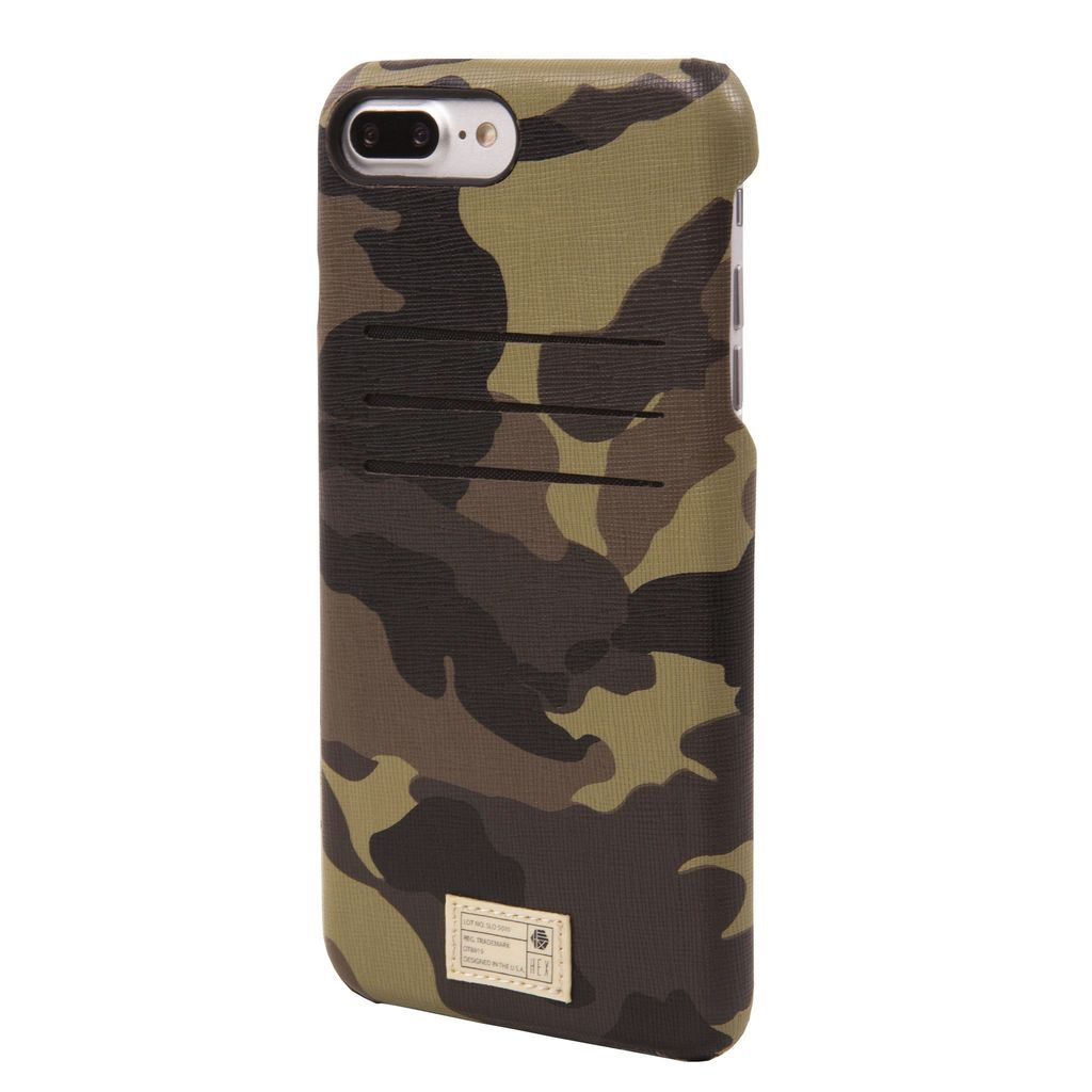 CAMO LEATHER SOLO WALLET FOR IPHONE 7 PLUS