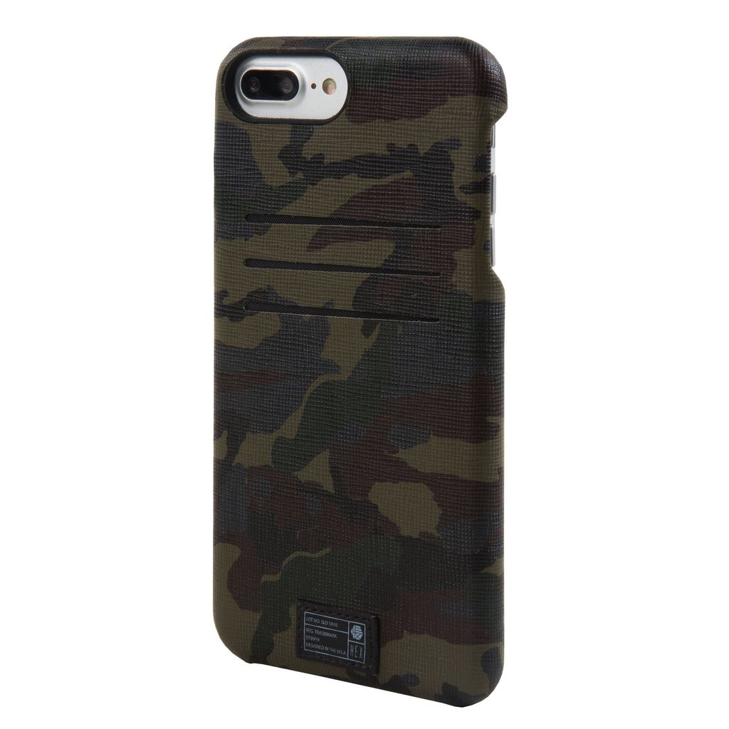 CAMO LEATHER REFLECTIVE SOLO WALLET FOR IPHONE 7 PLUS